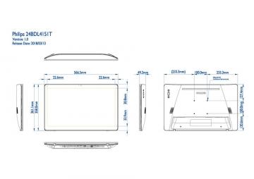Сенсорная панель PHILIPS 24BDL4151T/00