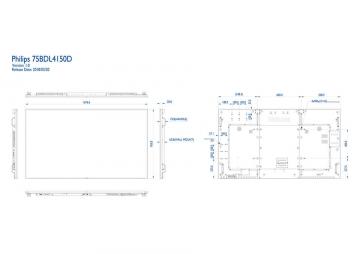 Информационная видеопанель Ultra HD PHILIPS 75BDL4150D/00