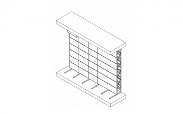 Напольная стойка для видеостены 2х5
