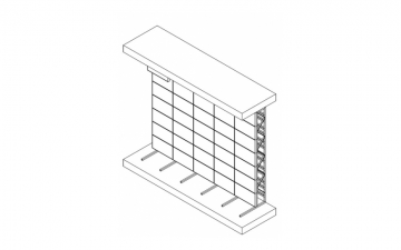 Напольная стойка для видеостены исполнение 2х2 SS-2х2L