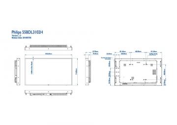 Ультраяркая Ultra HD видеопанель PHILIPS 55BDL3102H/00
